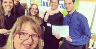 Verslumo ugdymo praktikos studentams  – mugės apdovanojimas