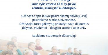 Kviečiame studentus į pristatymą apie LPD